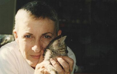 ענת גוב עם חתול