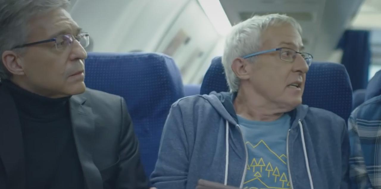 גידי במטוס מתוך פרסומת בזק