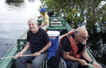 אהרוני וגידי בסירה